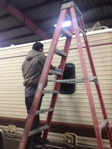 Window repairs at Almaden RV