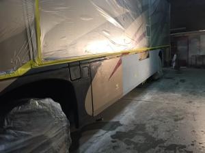 Tradewinds RV Body Paint Prep RV Auto Body Paint at Almaden RV in San Jose, CA