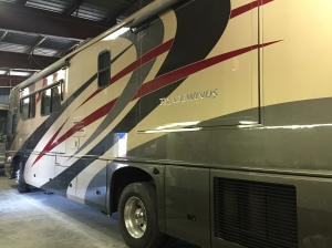 Tradewinds Excellent RV Body Paint Job Done at Almaden RV in San Jose, CA