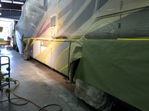 Tradewinds RV Paint Prep RV Auto Body Paint at Almaden RV in San Jose, CA